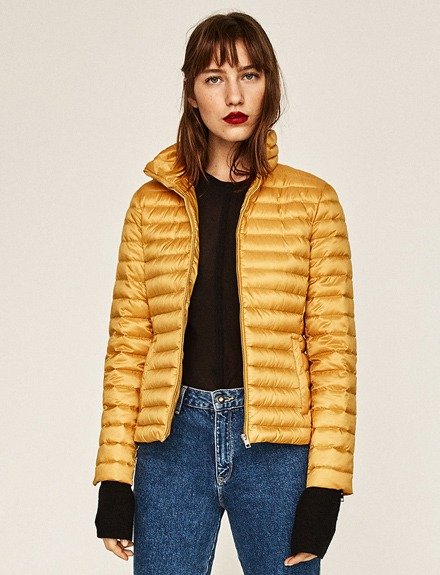 Abrigo de plumas / Zara