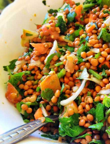 Ensalada de lentejas: fresca, sana y ligera