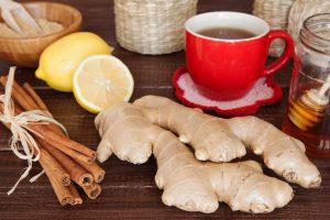 Ginger tea still life